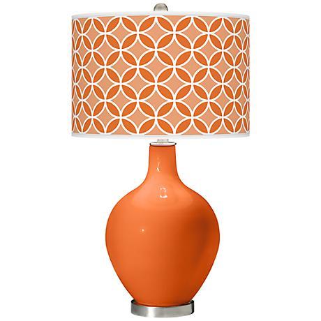 Invigorate Circle Rings Ovo Table Lamp