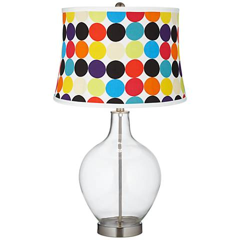 Clear Fillable Multi Mod Circles Shade Ovo Table Lamp