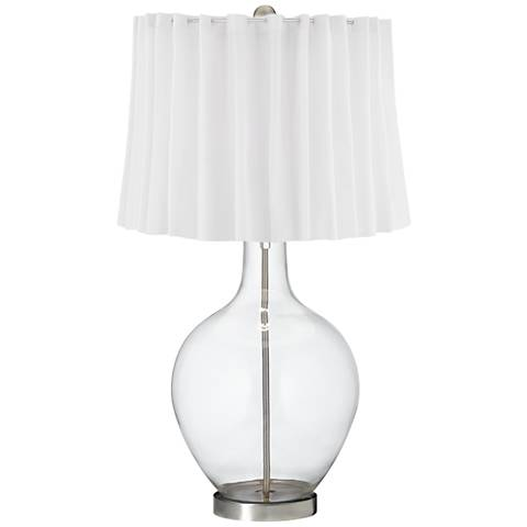 Clear Fillable White Curtain Ovo Table Lamp