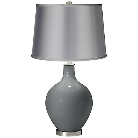 Software - Satin Light Gray Shade Ovo Table Lamp