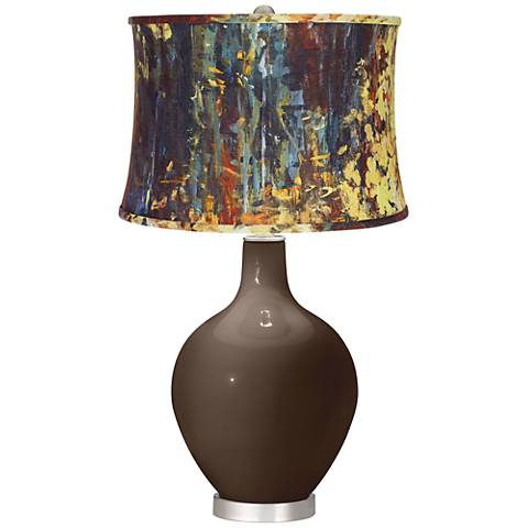 Carafe Oil Paint Shade Ovo Table Lamp
