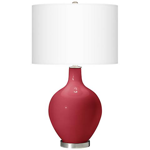 Samba Red Ovo Table Lamp