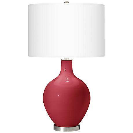 Samba Red Ovo Table Lamp