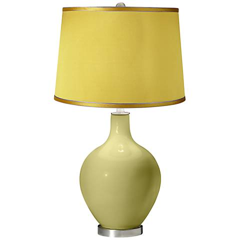 Linden Green - Satin Yellow Shade Ovo Table Lamp