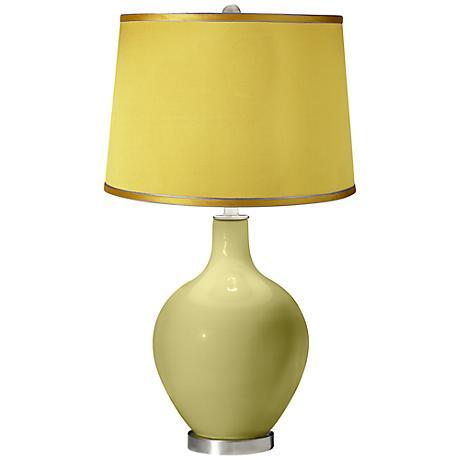 Linden Green - Satin Yellow Shade Ovo Table Lamp