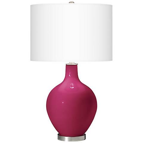 Vivacious Pink Ovo Table Lamp