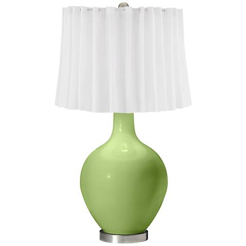 Lime Rickey White Curtain Ovo Table Lamp