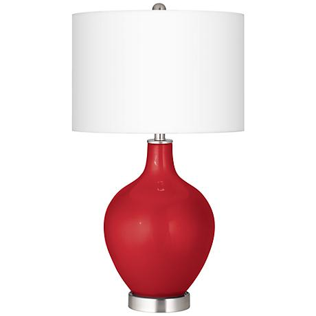 Sangria Metallic Ovo Table Lamp