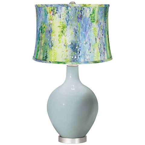 Rain Cool Watercolor Shade Ovo Table Lamp