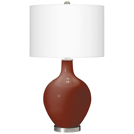 Fired Brick Ovo Table Lamp