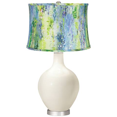 West Highland White Cool Watercolor Shade Ovo Table Lamp