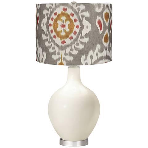 West Highland White Gray Batik Paisley Ovo Table Lamp