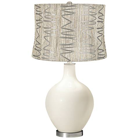 West Highland White Abstract Squiggles Shade Ovo Table Lamp