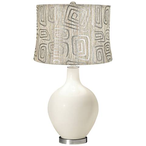 West Highland White Spiral Squiggles Shade Ovo Table Lamp