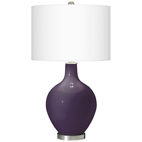 Quixotic Plum Ovo Table Lamp