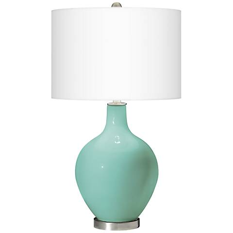 Rapture Blue Ovo Table Lamp