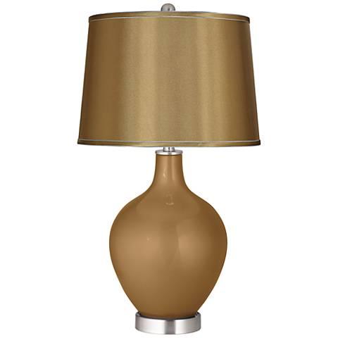 Light Bronze Metallic Satin Gold Shade Ovo Table Lamp