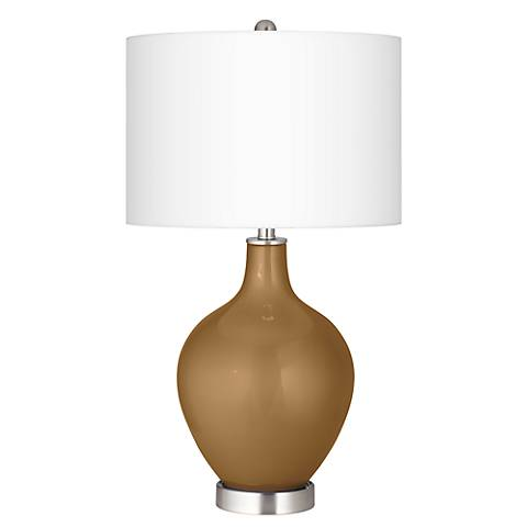 Light Bronze Metallic Ovo Table Lamp
