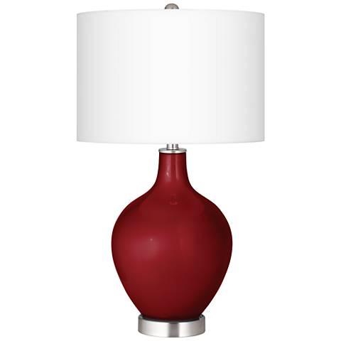 Cabernet Red Metallic Ovo Table Lamp