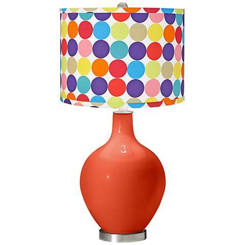 Daredevil Multi-Color Circles Shade Ovo Table Lamp