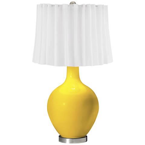 Citrus White Curtain Ovo Table Lamp