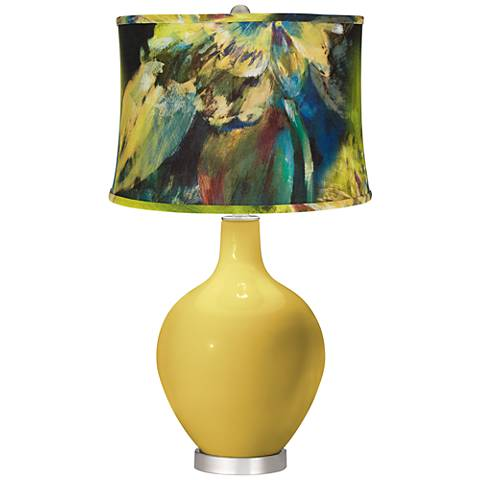 Nugget Abstract Floral Shade Ovo Table Lamp