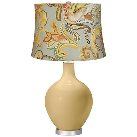 Humble Gold Yellow Paisley Ovo Table Lamp