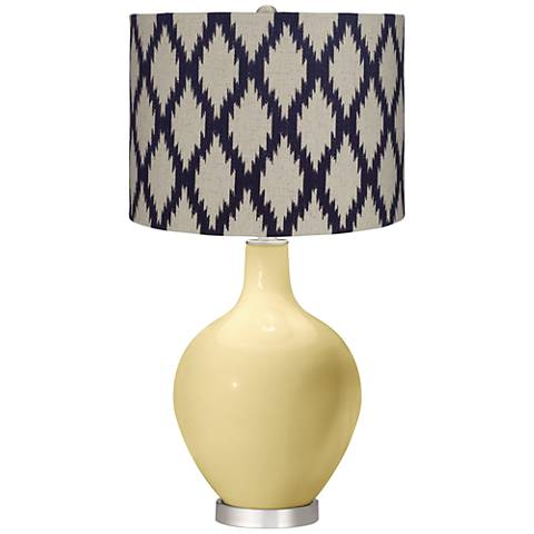 Butter Up Beige Diamonds Ovo Table Lamp