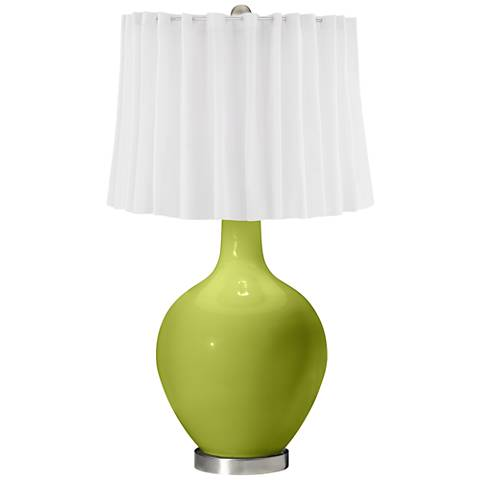 Parakeet White Curtain Ovo Table Lamp