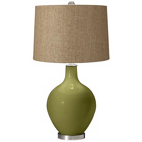 Rural Green Tan Woven Ovo Table Lamp X1363 X8915 Y8193