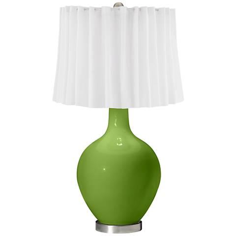 Gecko White Curtain Ovo Table Lamp