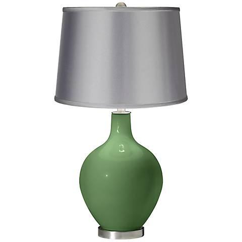 Garden Grove - Satin Light Gray Shade Ovo Table Lamp