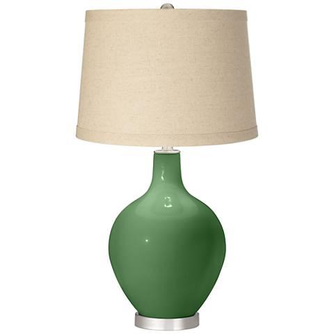 Garden Grove Oatmeal Linen Shade Ovo Table Lamp