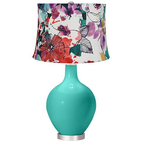 Synergy Multi-Color Flowers Ovo Table Lamp