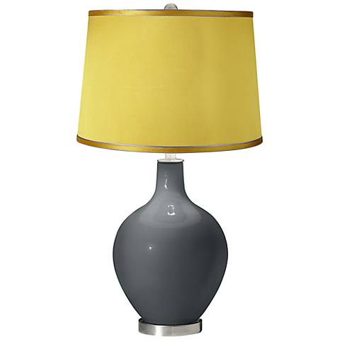 Black of Night - Satin Yellow Shade Ovo Table Lamp