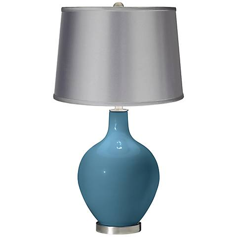 Great Falls - Satin Light Gray Shade Ovo Table Lamp