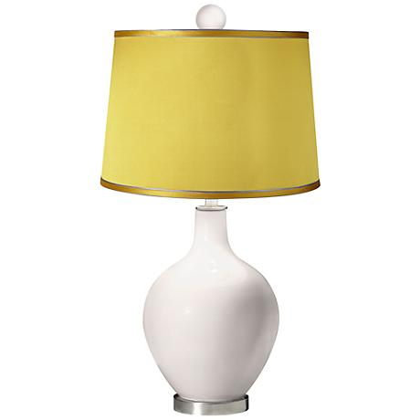 Smart White - Satin Yellow Ovo Table Lamp with Color Finial