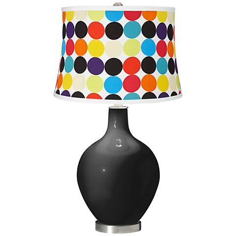 Tricorn Black Multi Mod Circles Shade Ovo Table Lamp