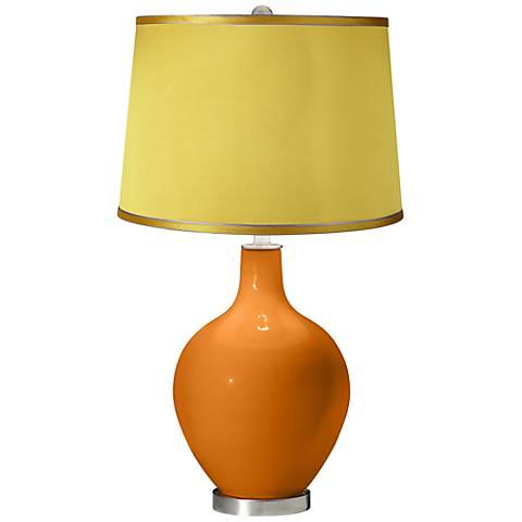 Cinnamon Spice - Satin Yellow Shade Ovo Table Lamp