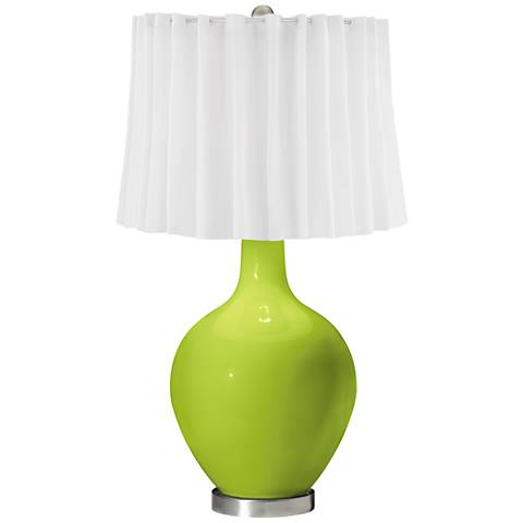 Tender Shoots White Curtain Ovo Table Lamp