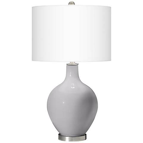 Swanky Gray Ovo Table Lamp