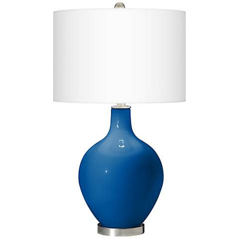 Hyper Blue Ovo Table Lamp