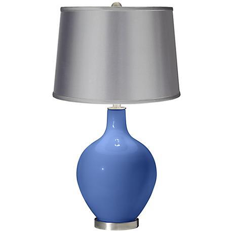 Dazzle - Satin Light Gray Shade Ovo Table Lamp