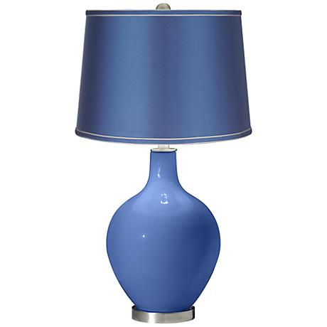 Dazzle - Satin Blue Shade Ovo Table Lamp