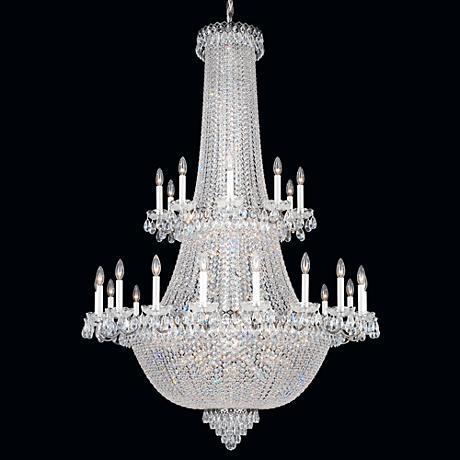 """Schonbek Camelot 41 1/2""""W Polished Silver Crystal Chandelier"""