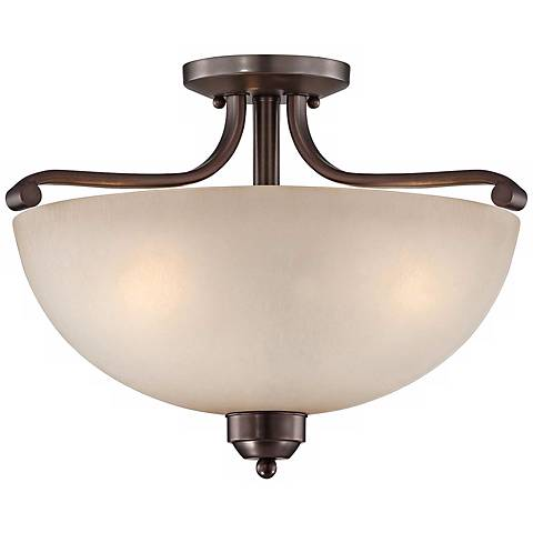 "Paradox Bronze 17"" Wide Ceiling Light Fixture"