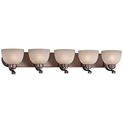 "Paradox 38"" Wide Harvard Court Bronze 5-Light Bath Light"