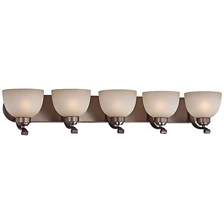 "Paradox 38"" Wide Bronze Bathroom Light Fixture"