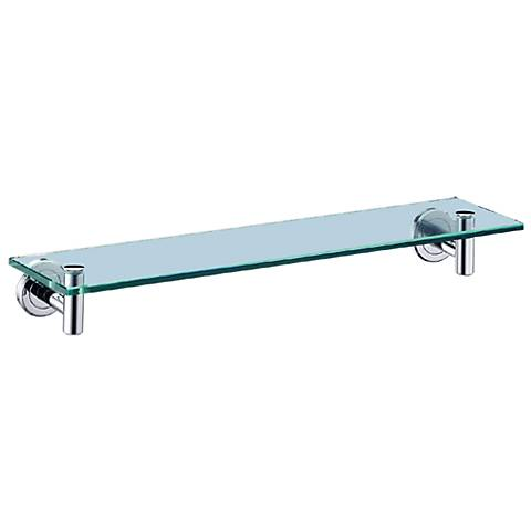 "Gatco Latitude II Chrome 20"" Wide Glass Bathroom Shelf"