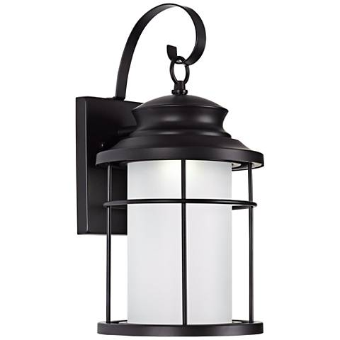 "Warburton 16"" High Black LED Outdoor Wall Light"